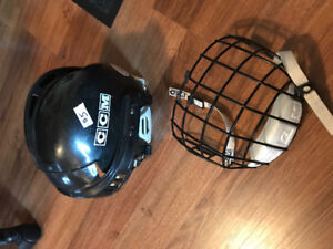 CCM hockey helmet with face cage kids