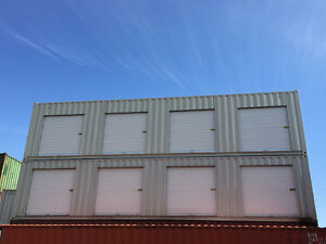40' Shipping Container w/ Roll Up Doors - Self Storage Container