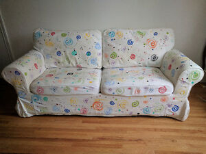 Hand-Painted Sofa Bed