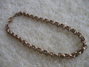 UNIQUE OLD ANTIQUE UNISEX GOLD-PLATED CHAIN BRACELET