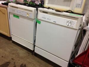 2 White Dishwashers
