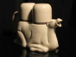 RARE Fitz and Floyd Pottery Camel Teapot 2 Cups Vintage 1978