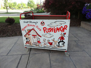 Vintage 1950's Mickey Mouse Club Push' Em Car In excellent Shape