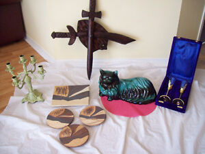 Pottery CAT Wood Sword/Ceramic Art + MORE *SEE EACH PRICE