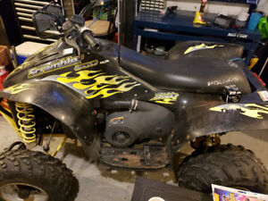 2004 Scrambler 500 H.O comes with new set of tires, oil filter a