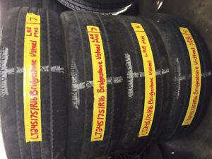4 used LT245-75-R16 Bridgestone v steel