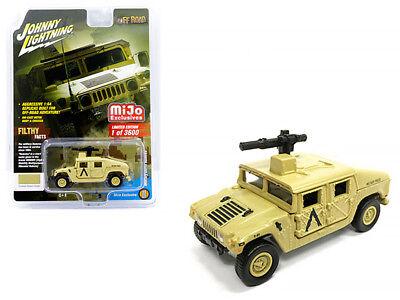 Johnny Lightning 1:64 Hummer Military Outfit Humvee Diecast Desert Sand JLCP7158 ()