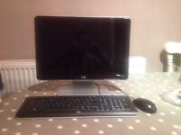 """HP 19"""" LCD PC monitor, keyboard and mouse set"""