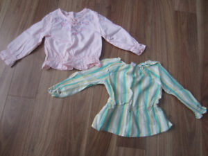 TODDLER GIRLS BLOUSES - SIZE 2T - $5.00 for BOTH