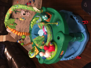 Mooving Sale-Exersaucer Triple Fun Life, Baby Seat, Leather Sofa