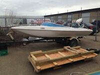 140hp ski boat with tow arm