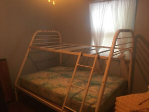 Bunk bed   Double at bottom. Single up top