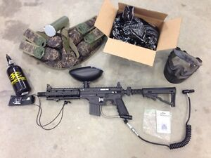 Tippmann Sierra One Paintball Gun + Gear.