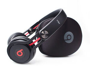 New Genuine Beats by Dr. Dre Mixr Neon DJ Swivel Headphones - BLACK