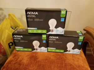BRAND NEW IN BOX 3-PACK NOMA LIGHT LED 10W=60W SAVE ENERGY BULBS
