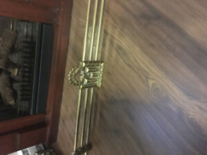 Solid Brass Antique Fireplace Fender