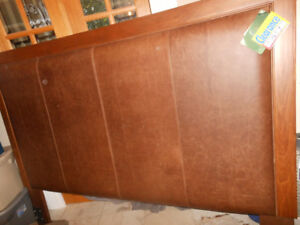 King Size Leather Headboard - Beautiful Italian Leather