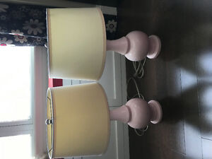 Resortation Hardware Pink Lamps