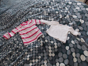 2 Long Sleeve Tshirts for Baby Girl Size 6 months