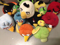 Collection of Angry Birds Plush Toys