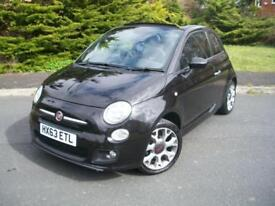 FIAT 500 1.2 S EDITION CONVERTIBLE 2013/63, £30 TAX, HUGE SPEC JUST 28,000 MILES