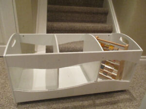 White Toy Storage Bin/Divider