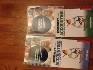 Horngrens Accounting volume 1 & 2 with workbooks included