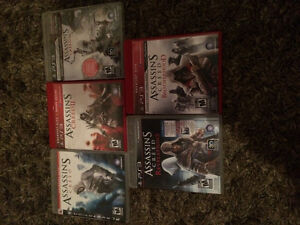 Assassin's Creed Lot of 5 games PS3