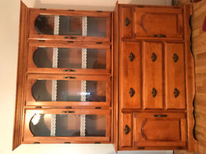 Real wood hutch and table set.