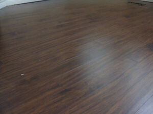 Rich Laminate Flooring- Like New