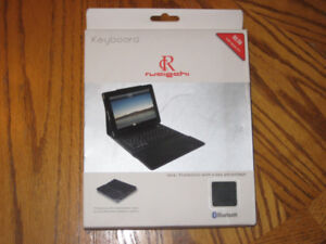 iPad leather case with keyboard