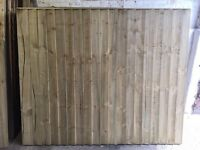 🔨🌟Superb Quality Vertical Board Feather Edged Straight Top Tanalised Fence Panels