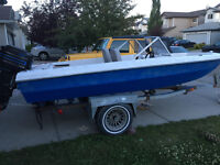 1979 boat and trailer ready for lake