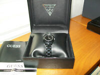 BRAND NEW BLACK GUESS WATCH
