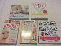 Baby name books and other