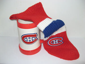 MONTREAL CANADIENS COLLECTIBLE MUG AND CHRISTMAS STOCKING