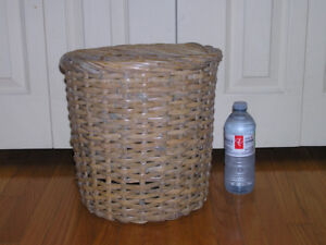 Multi-Purpose Mid Size Wicker Waste Basket For Home or Office
