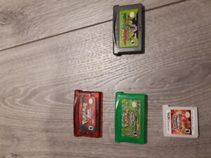 Assorted pokemon games and mario.
