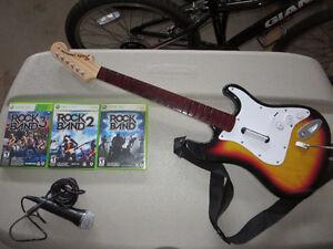 Rockband Games, Guitar and Microphone