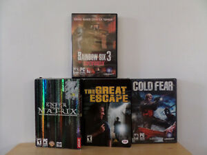 Set of 4 PC Video Games
