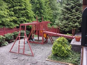 Backyard swings & play centre - first truck, and tools takes it!