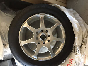 4 PCs Alloy Rims with tires for Toyota Yaris