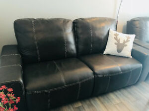 CAUSEUSE ELRAN DIVAN SOFA EN CUIR INCLINABLE