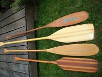PADDLES for canoeing etc.  Four for $60.00.