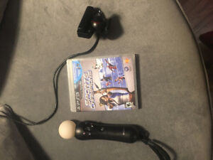 PS3 Move bundle, with Sports Champ game . Motion controller