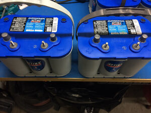 Optima Bluetop Marine Dual Purpose Batteries D34M x4