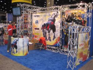 Beautiful used 10' x 20' custom tradeshow booth w. travel crate