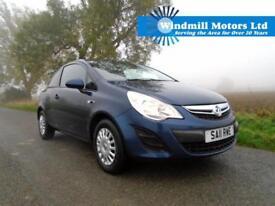2011/11 VAUXHALL CORSA 1.0 i ECOFLEX 12V S 3DR BLUE - £30 TAX - IDEAL 1ST CAR