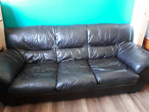 Real leather couch