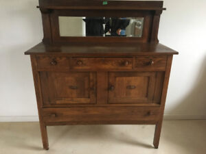 Antique sideboard/china cabinet